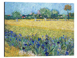 Aluminium print  View of Arles with Irises in the Foreground - Vincent van Gogh