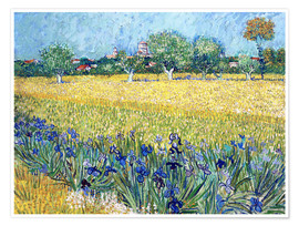 Premium poster  View of Arles with Irises in the Foreground - Vincent van Gogh