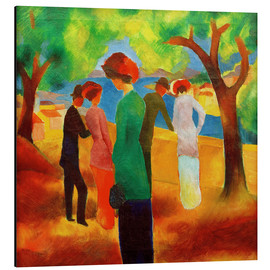 Aluminium print  Lady in a green jacket - August Macke