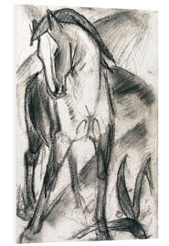 PVC print  Young horse in mountain landscape - Franz Marc