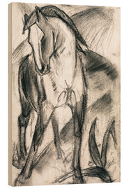Hout print  Young horse in mountain landscape - Franz Marc