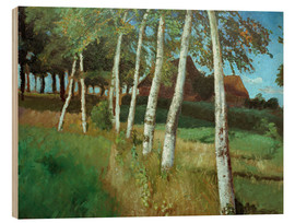 Hout print  Birches in the marsh - Otto Modersohn