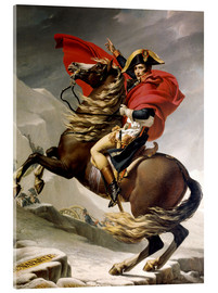 Acrylglas print  Napoleon crossing the Alps - Jacques-Louis David