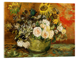 Acrylglas print  Roses and sunflowers - Vincent van Gogh