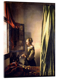 Acrylglas print  Girl reading a letter at an open window - Jan Vermeer
