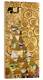 Hout print  The Tree of Life (The Expectation) - Gustav Klimt
