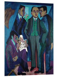 PVC print  An Artists' Community (The Painters of Die Bruecke) - Ernst Ludwig Kirchner
