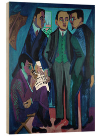 Hout print  An Artists' Community (The Painters of Die Bruecke) - Ernst Ludwig Kirchner