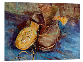 Acrylglas print  The Shoes - Vincent van Gogh
