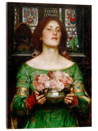 Acrylglas print  Gather Rosebuds While May - John William Waterhouse