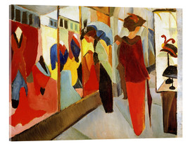 Acrylglas print  Fashion Store - August Macke