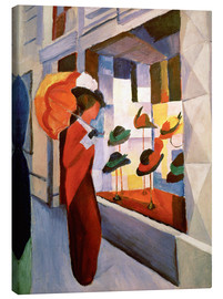 Canvas print  The Hat Shop - August Macke