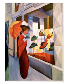 Premium poster  The Hat Shop - August Macke