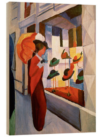 Hout print  The Hat Shop - August Macke