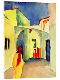 Acrylglas print  Alley in Tunis - August Macke