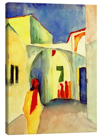 Canvas print  A Glance down an Alley in Tunis - August Macke