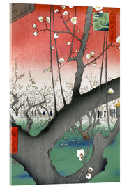 Acrylglas print  The Plum Tree Teahouse at Kameido - Utagawa Hiroshige