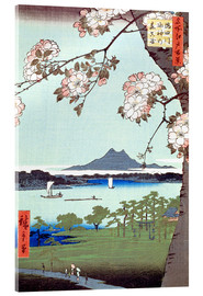 Acrylglas print  Masaki and the Suijin Grove by the Sumida River - Utagawa Hiroshige