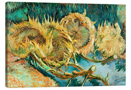 Canvas print  Four Cut Sunflowers - Vincent van Gogh