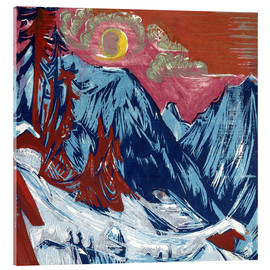 Acrylglas print  Winter Moonlit Night - Ernst Ludwig Kirchner