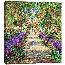 Canvas print  Weg in de tuin van Monet - Claude Monet
