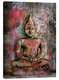 Canvas print  Old Buddha in Graffiti - teddynash