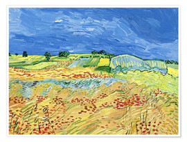 Premium poster Fields with Blooming Poppies