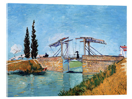 Acrylglas print  The drawbridge in Arles - Vincent van Gogh