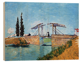 Hout print  The drawbridge in Arles - Vincent van Gogh