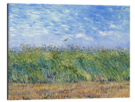 Aluminium print  Corn field with poppies and partridge - Vincent van Gogh