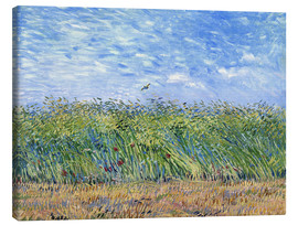 Canvas print  Corn field with poppies and partridge - Vincent van Gogh