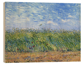 Hout print  Corn field with poppies and partridge - Vincent van Gogh