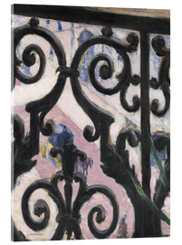 Acrylglas print  View through balcony grill - Gustave Caillebotte