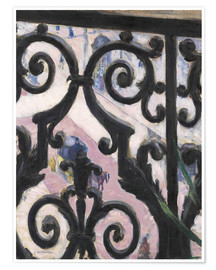 Premium poster  View through balcony grill - Gustave Caillebotte