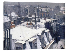 Acrylglas print  Roofs in the snow - Gustave Caillebotte
