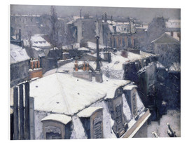 PVC print  Roofs in the snow - Gustave Caillebotte