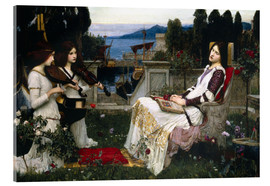 Acrylglas print  Saint Cecilia - John William Waterhouse