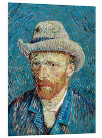 PVC print  Vincent van Gogh with Grey Hat - Vincent van Gogh