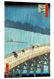 Acrylglas print  Ohashi bridge in the rain - Utagawa Hiroshige