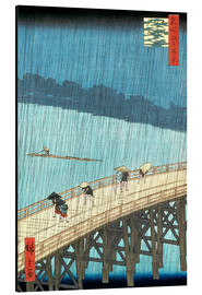 Aluminium print  Ohashi bridge in the rain - Utagawa Hiroshige