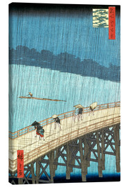 Canvas print  Sudden Shower over Shin-Ohashi bridge and Atake - Utagawa Hiroshige