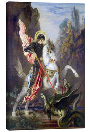 Canvas print  St. George and the Dragon - Gustave Moreau
