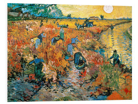 PVC print  The red vineyard - Vincent van Gogh