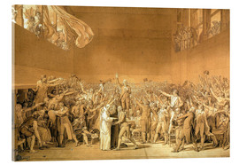 Acrylglas print  Ballhausschwur on 20.6.1789 - Jacques-Louis David