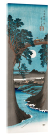 Acrylglas print  Moon Over the Monkey Bridge in Kai Province - Utagawa Hiroshige