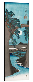 Aluminium print  Moon Over the Monkey Bridge in Kai Province - Utagawa Hiroshige