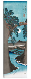 Canvas print  Moon Over the Monkey Bridge in Kai Province - Utagawa Hiroshige