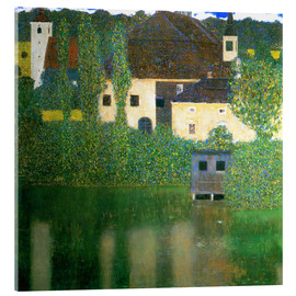 Acrylglas print  Castle chamber on the Attersee I - Gustav Klimt