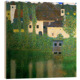 Hout print  Castle chamber on the Attersee I - Gustav Klimt