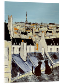 Acrylglas print  Cats on the roof - JIEL